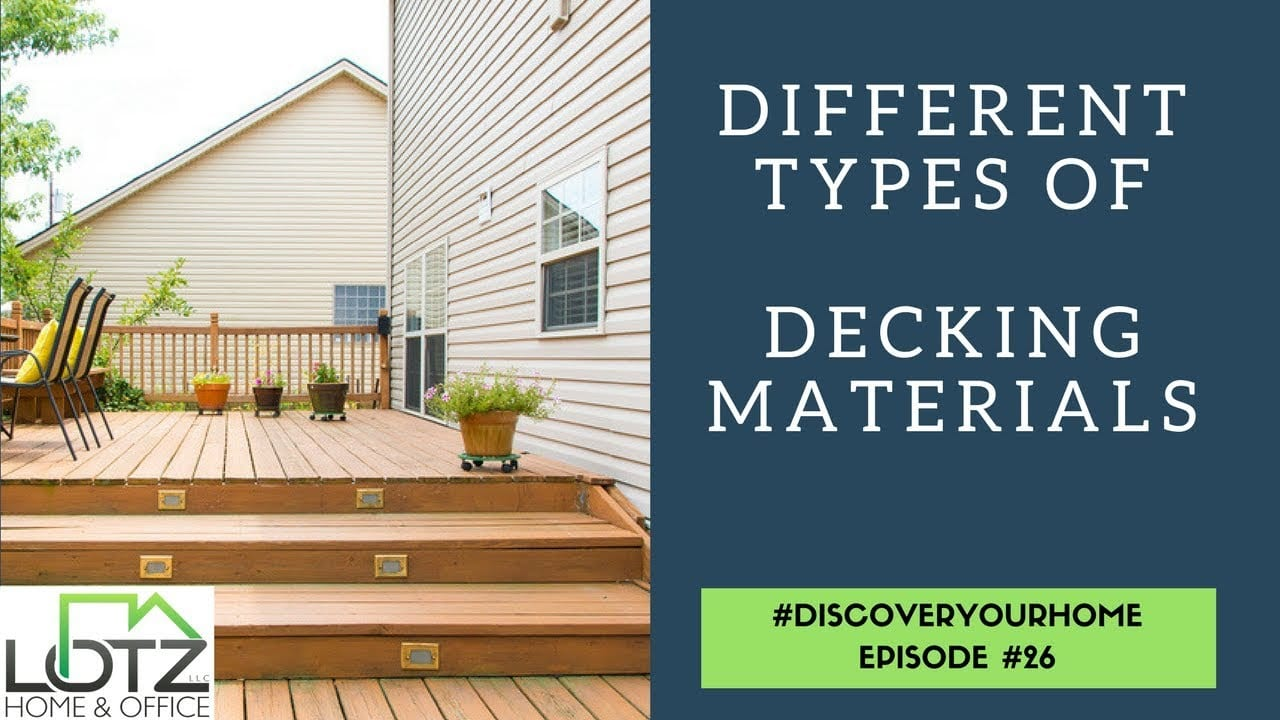 different types of decking materials