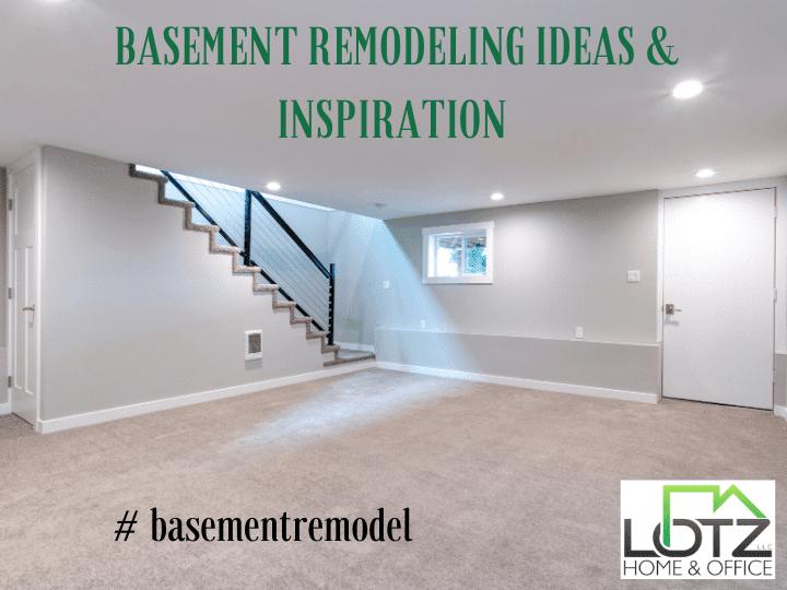 unfinished basement remodeling ideas
