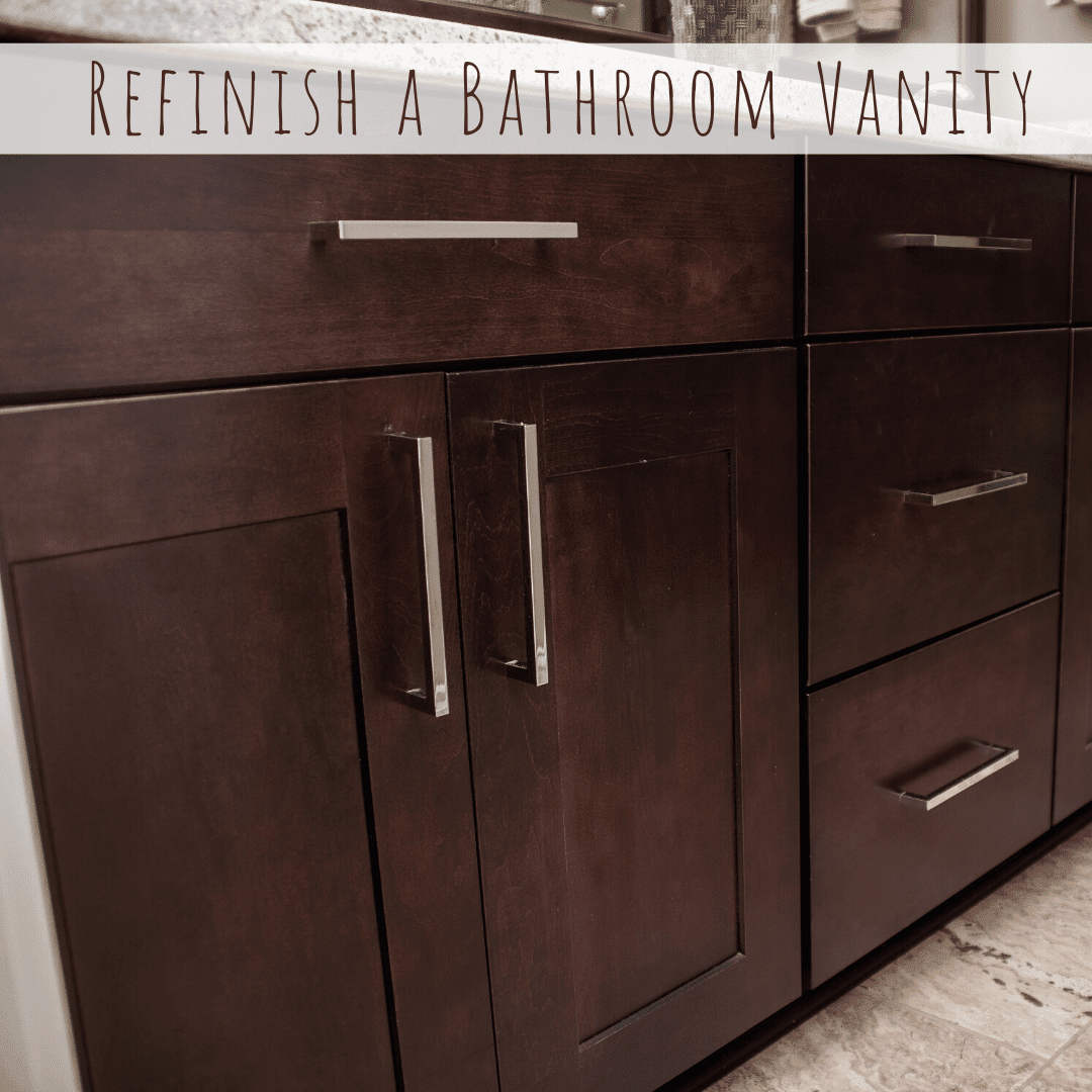 refinish a bathroom vanity